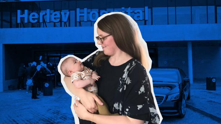 Fødsel i 'rød zone': Jordemødre havde for travlt til at følge anbefalinger, da Christine skulle føde