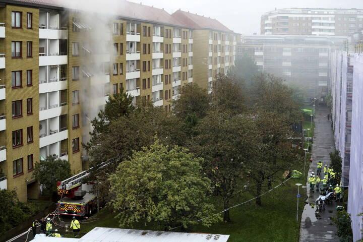 Efter eksplosion i Göteborg i morges: 16 personer kørt på sygehuset