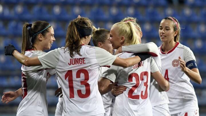 MINUT FOR MINUT Kyniske Danmark slår Montenegro 5-1 og topper fortsat VM-kvalifikationen