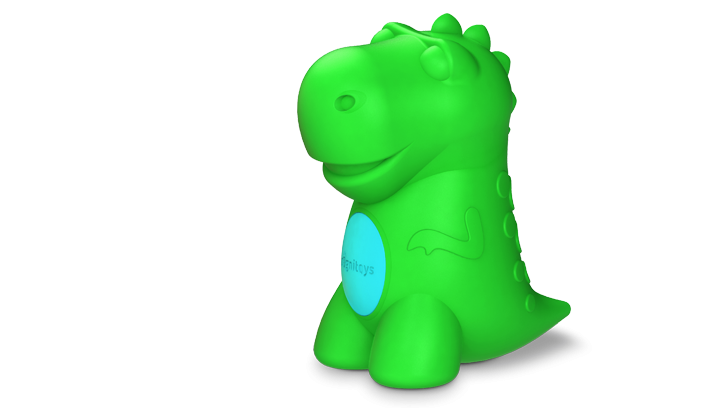 Dinosaur Taler Med Børn Og Lærer Dem At Regne Og Stave Tech Dr