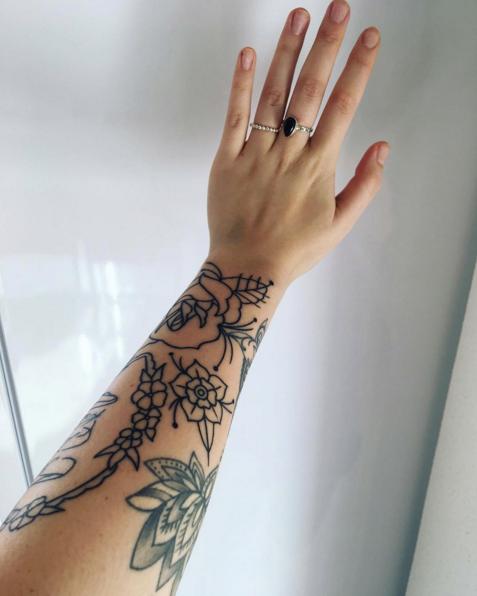 g nøgle tatovering