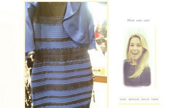 73f0d1d6af41 Caitlin McNeill lagde en torsdag i februar dette billede af sin kjole på  det sociale medie Tumblr. Og så gik internettet amok. Kjolen ER blå og sort.