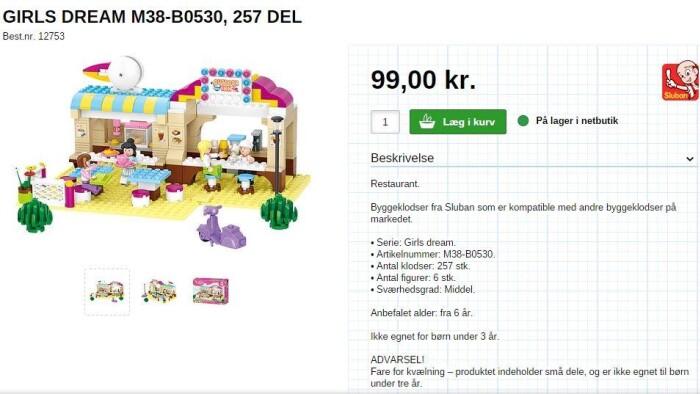 """08d1c28cc17 Sluban har bl.a. lanceret en serie under navn """"Girl's Dream"""", der har meget  store ligheder med Lego Friends-serien, der er Legos satsning på legetøj  til ..."""