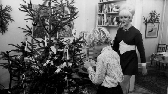 Det Sendte Dr På Juleaften I Gamle Dage Clevin Klippede Og Gniske
