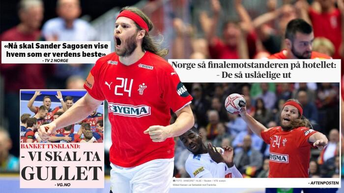 e347e994784 Mikkel Hansen og håndboldherrernes præstation mod Frankrig i semifinalen er  et af de store samtaleemner i de norske medier dagen før VM-finalen.