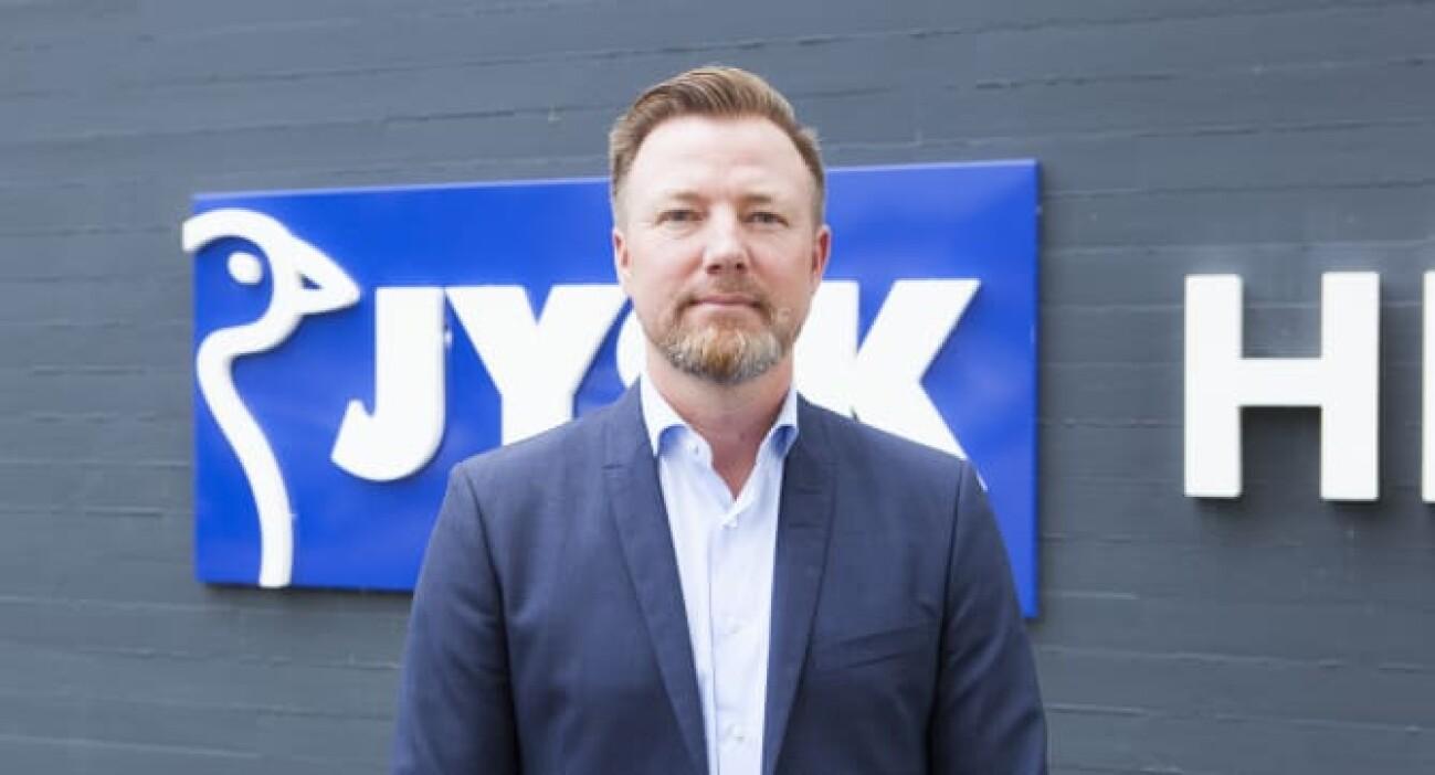 47-årige Jacob Brunsborg overtog i juni formandsposten i Jysk fra sin far, Lars Larsen. (© JYSK)