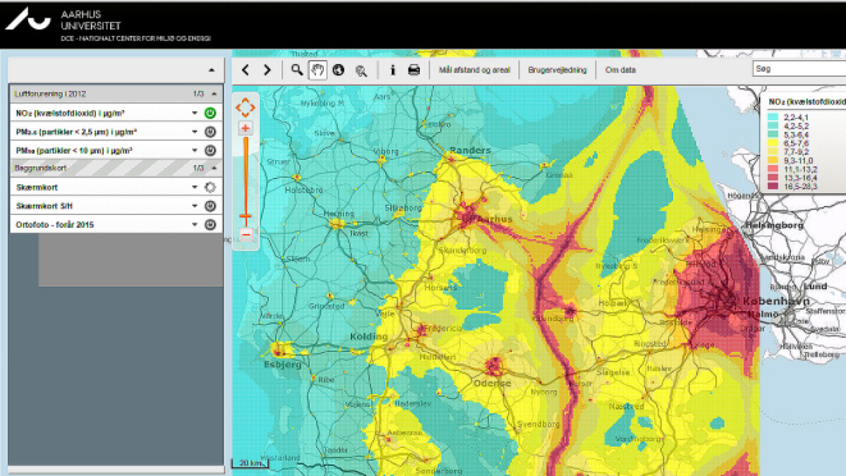 Nyt Digitalt Kort Tjek Luftforureningen Hvor Du Bor Miljo Dr