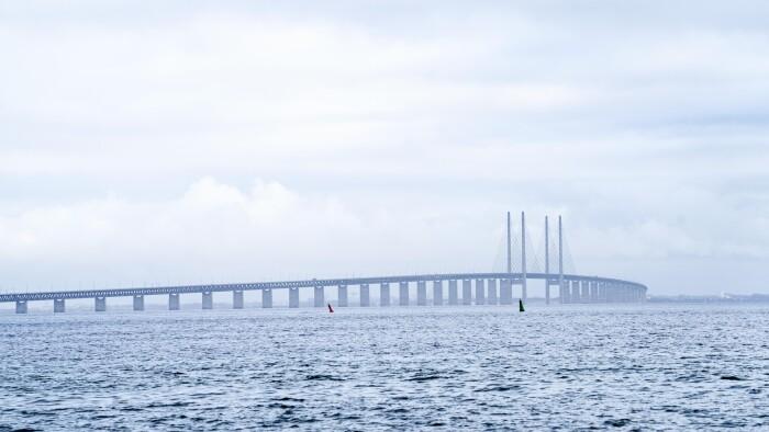 Øresundsbroen er lukket på grund af storm