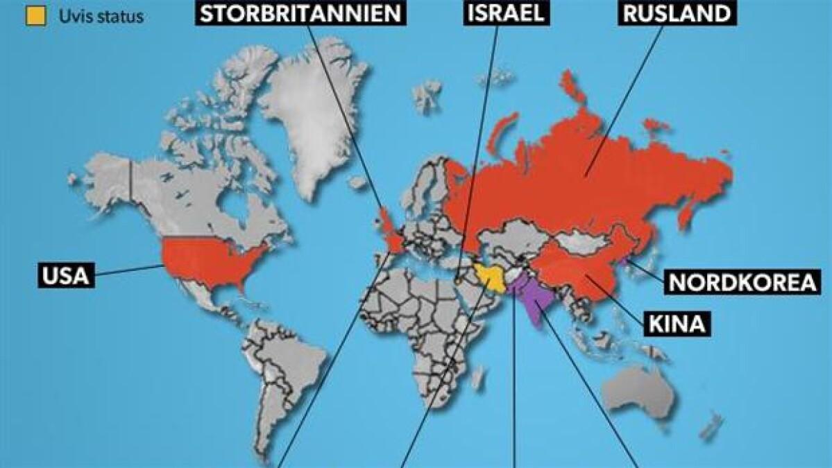 Mange der i hvor lande verden er Antal lande