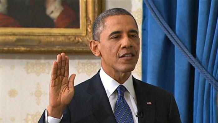 Obama er taget i ed som USA's præsident | Udland | DR