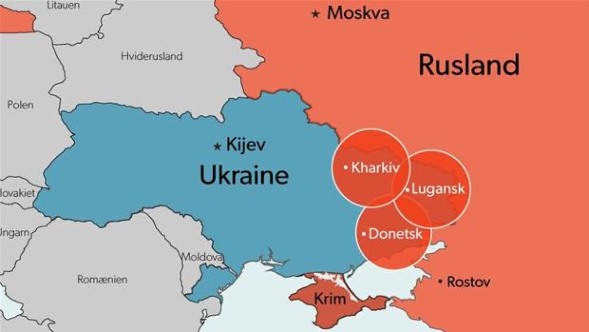 Kort Kijev Frygter At Putin Ponser Pa Disse Omrader Udland Dr