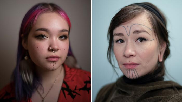 Vilde ansigtstatoveringer breder sig blandt grønlændere: 'Det er en superfed måde at vise, hvem jeg er'