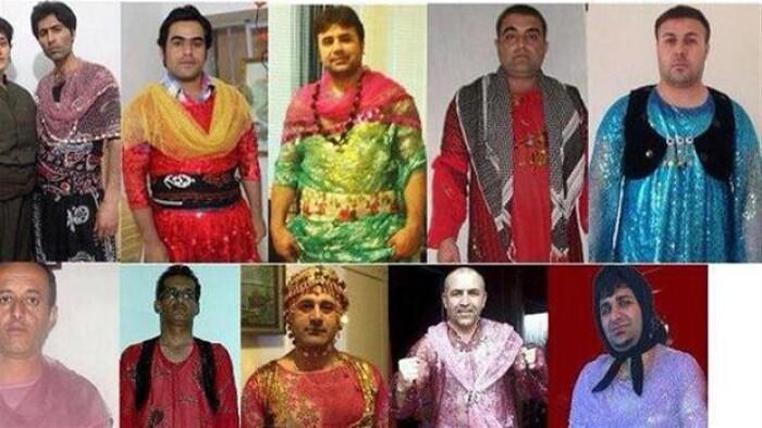 Kurdiske mænd i dametøj demonstrerer for lighed | Udland | DR